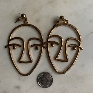 Vintage Abstract Face Earrings